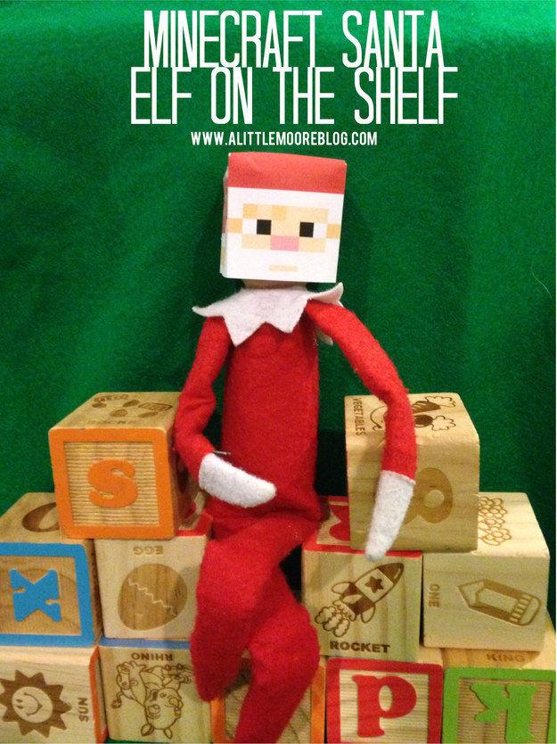 A Minecraft Santa head.