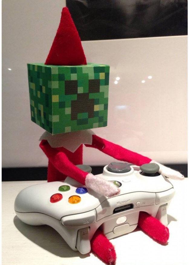 A Minecraft head.