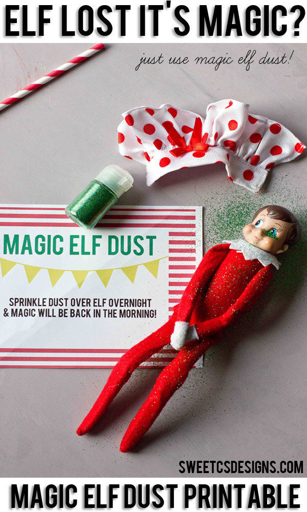 Magic elf dust instructions.