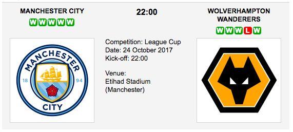 Man City vs Wolverhampton - League Cup Preview & Tips