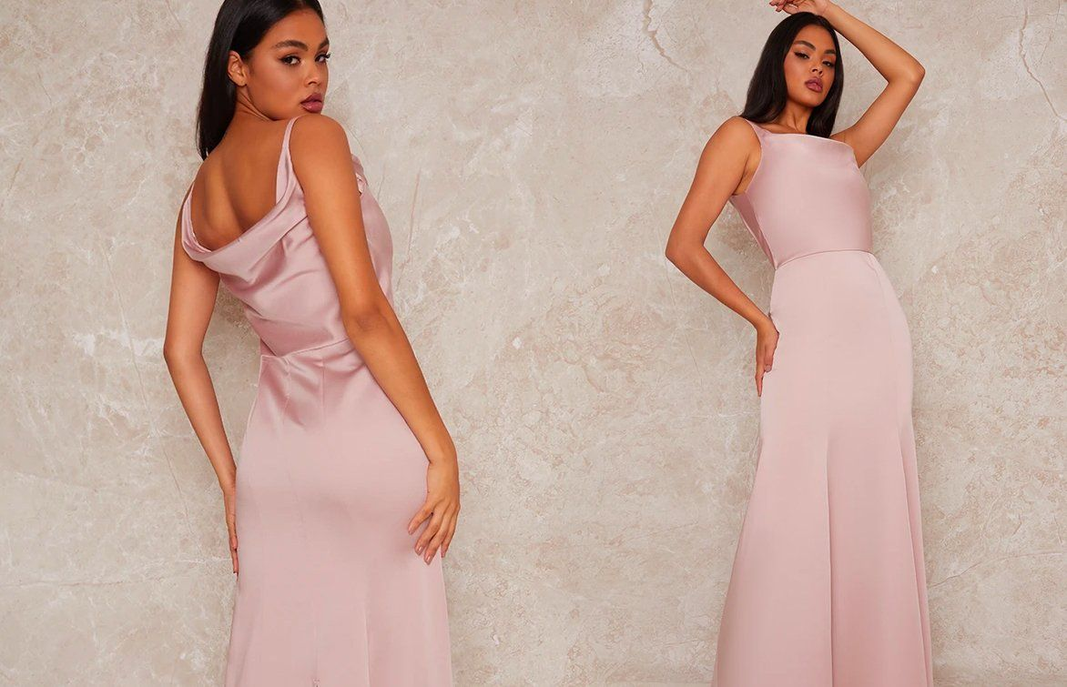 Satin Slip Bridesmaid Maxi Dress