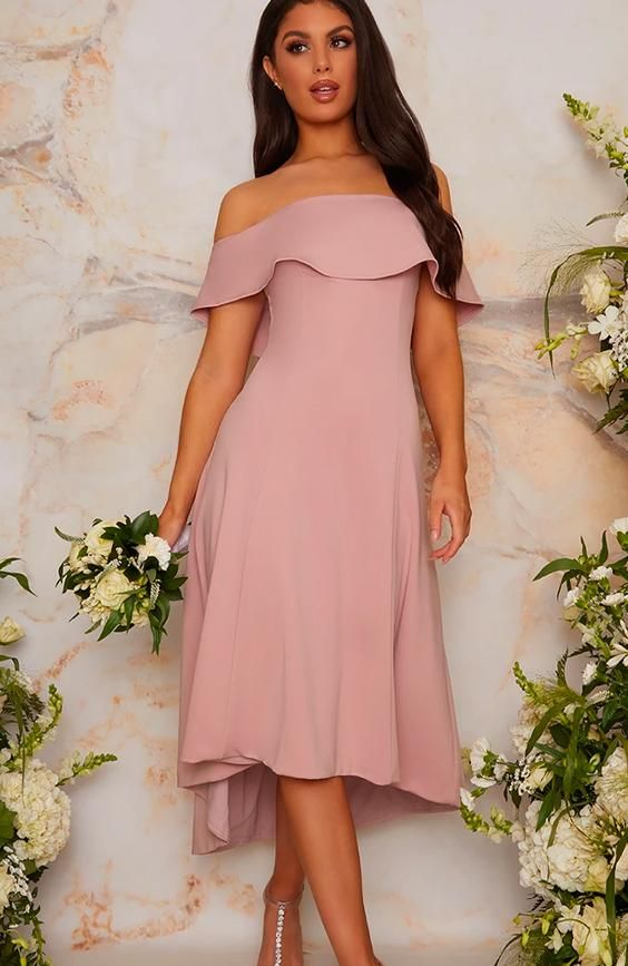 Bardot Design Dip Hem Midi Dress