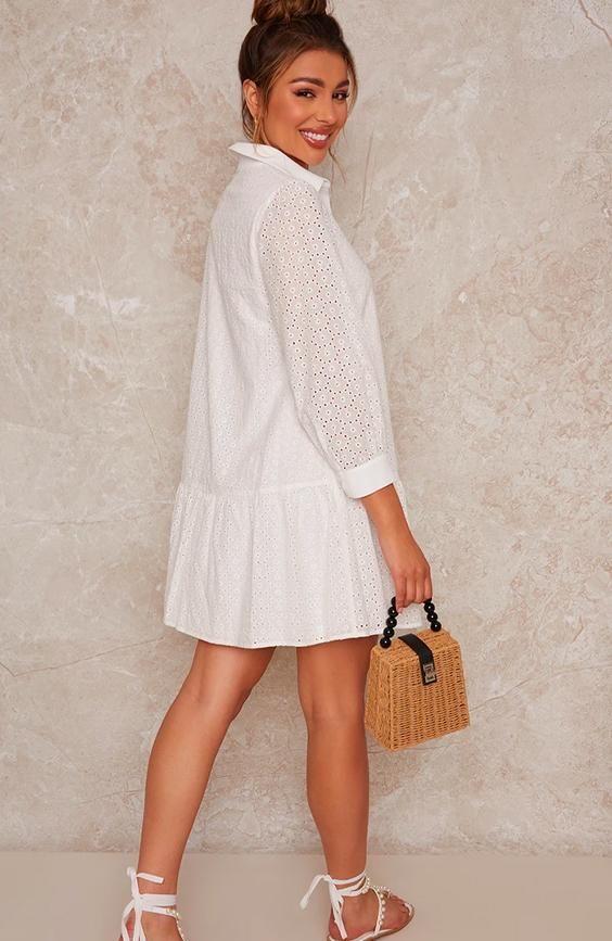 Lace Shirt Mini Day Dress