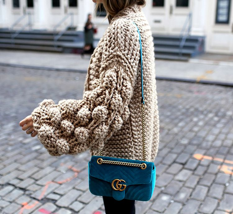 Fall Knit and Velvet Gucci Marmont