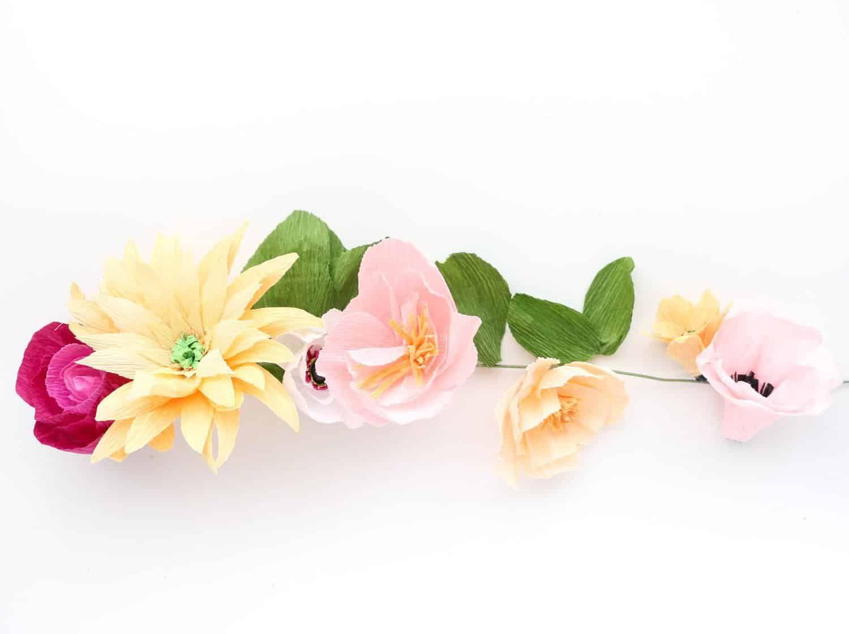 Make A Crepe Paper Flower Garland-8