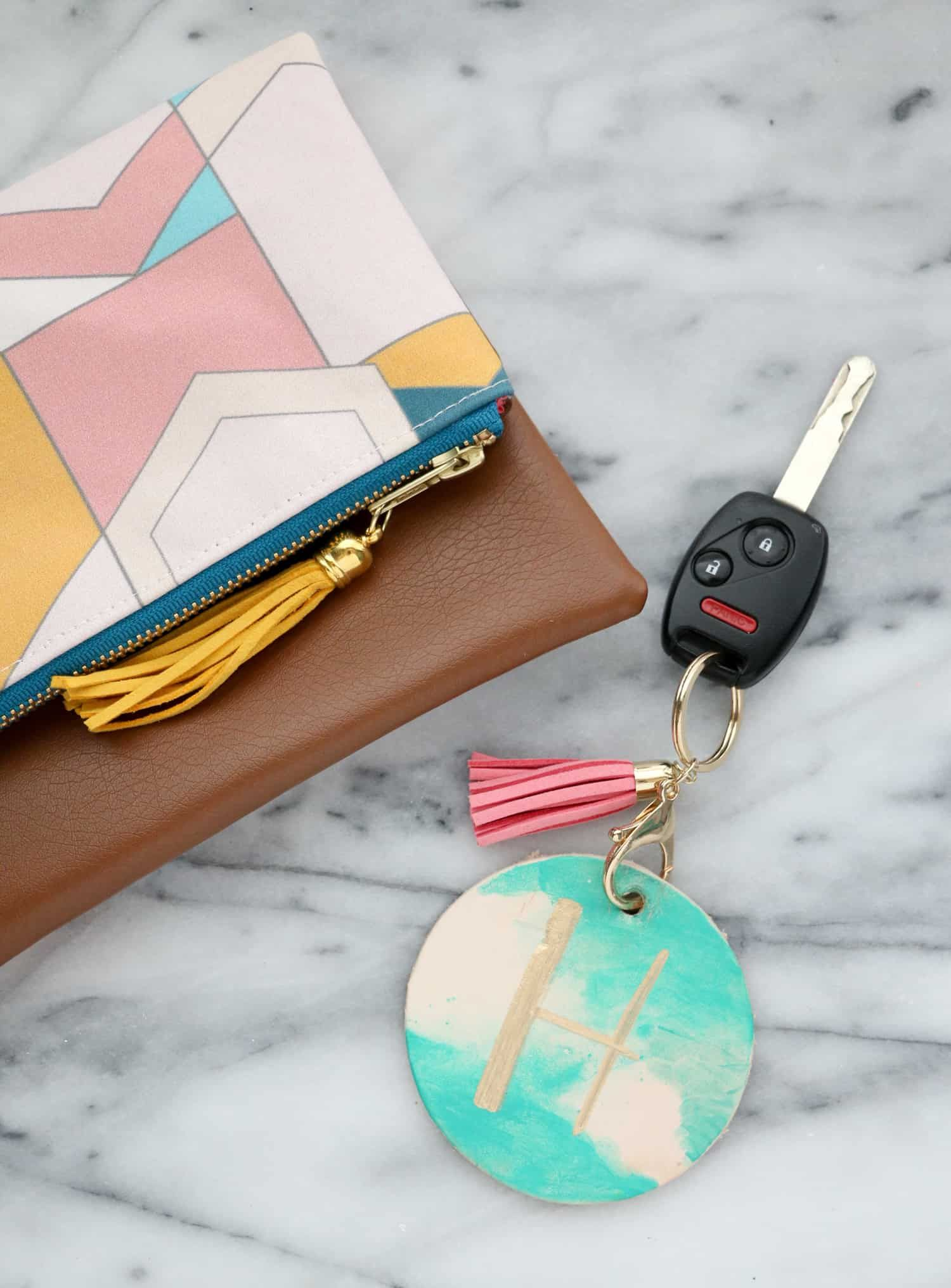 Make your own watercolor luggage tags