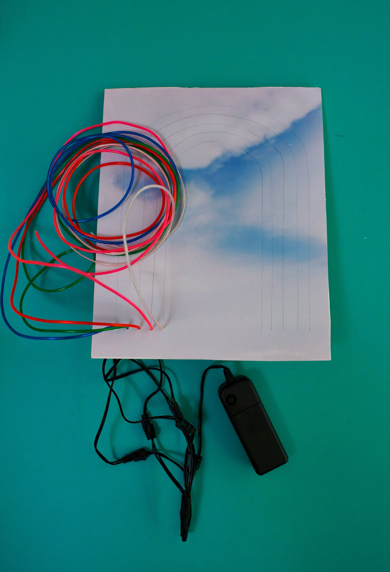 How to make a neon sign with el wire