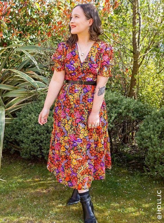Floral Print Midi Day Dress