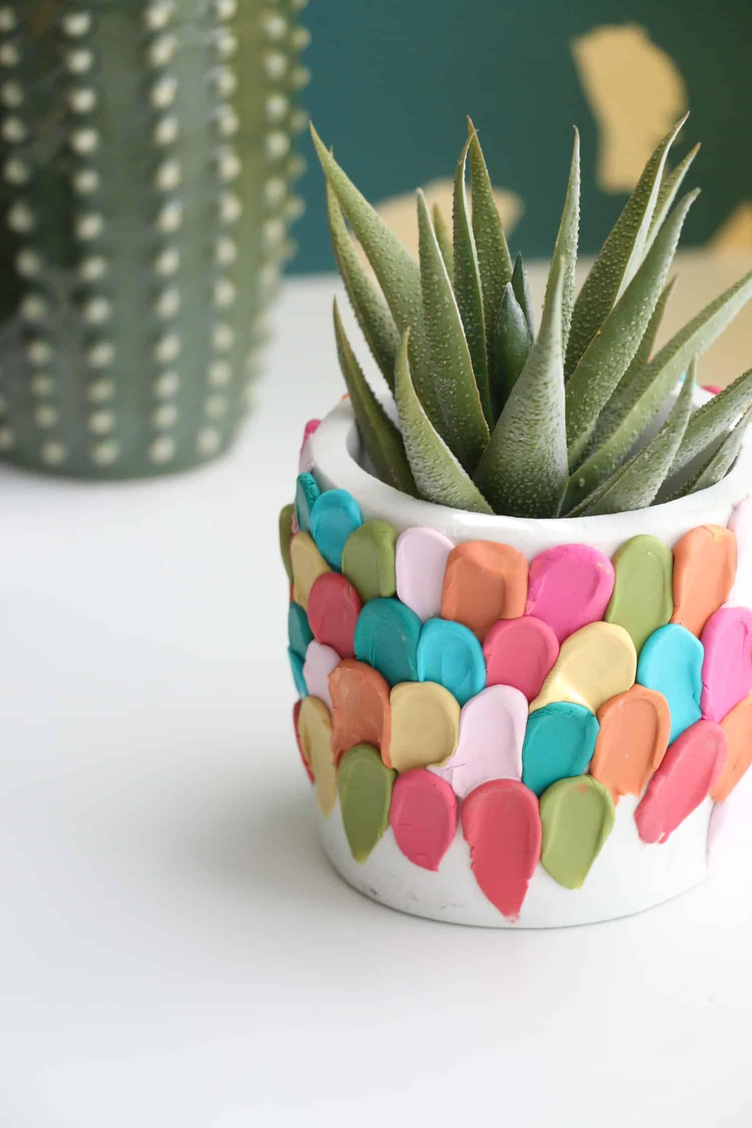 Make a Clay Petal Planter