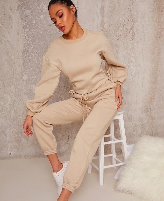 Ruched Detail Loungewear Set