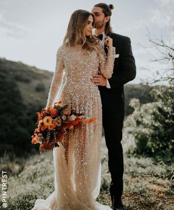 Sequin Wedding Dress inspo