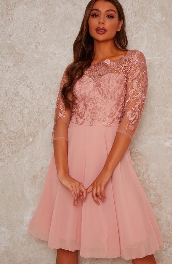 Lace Badot Bridesmaid