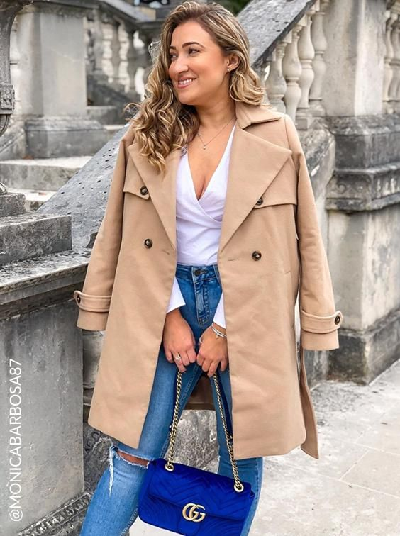 Monica in Chi Chi Coat