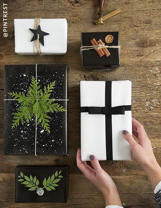 Black Gift Wrapping