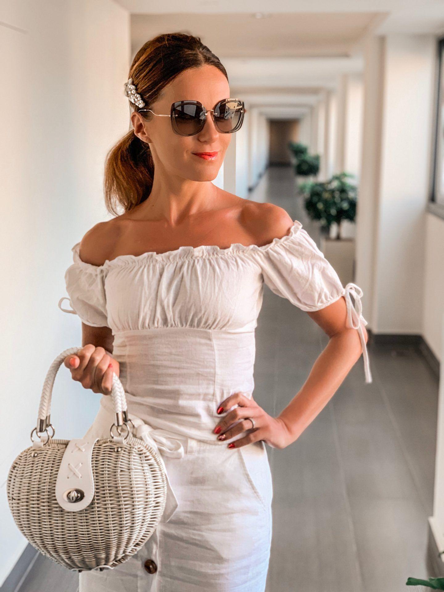 Atrium Platinum Luxury Resort Hotel and SPA, Rhodes Greece Elegant Duchess Boutique Chic Heart shaped Straw Bag