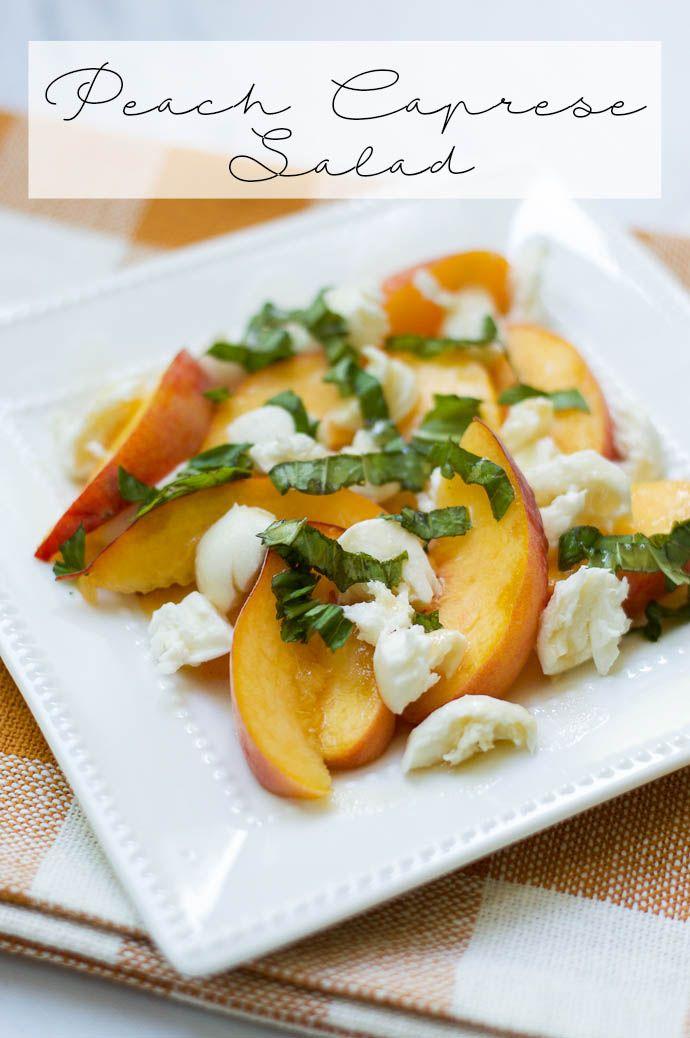 peach caprese salad recipe
