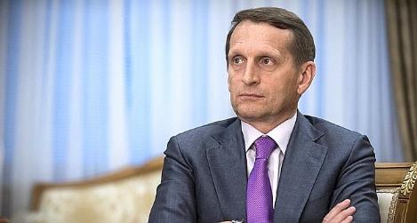 Sergueï Narychkine pense quela Russie joue le même rôle d'intermédiaire que la Suisse en Ukraine. (Sergey  Kozmin)
