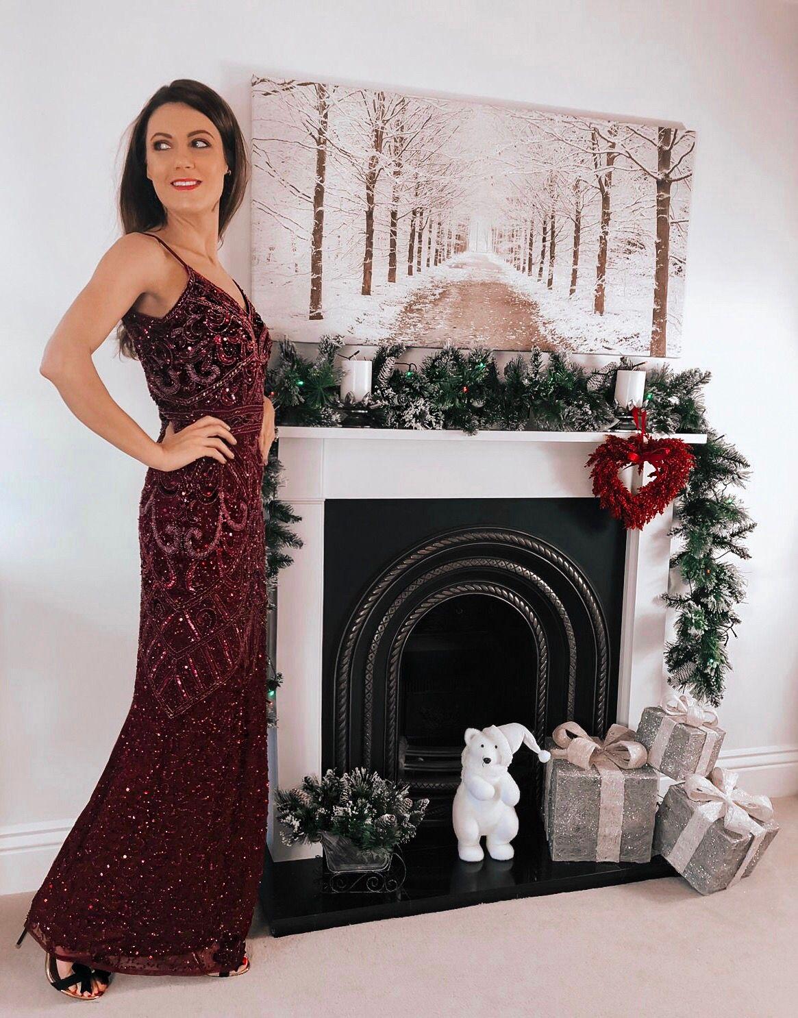 Sistaglam Full Beaded Maxi Dress