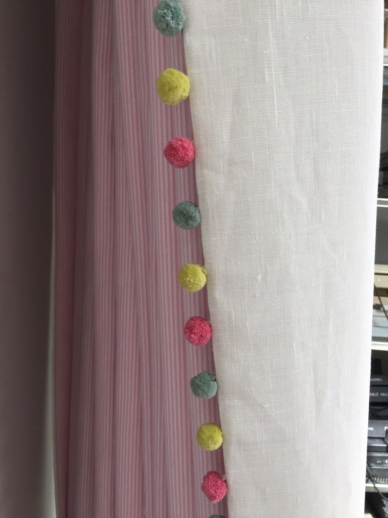 Double Sided Curtains With A Susie Watson Pom Pom Trim