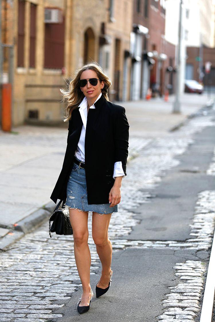 Summer Street Style, Theory Boyfriend Blazer, Helena of Brooklyn Blonde