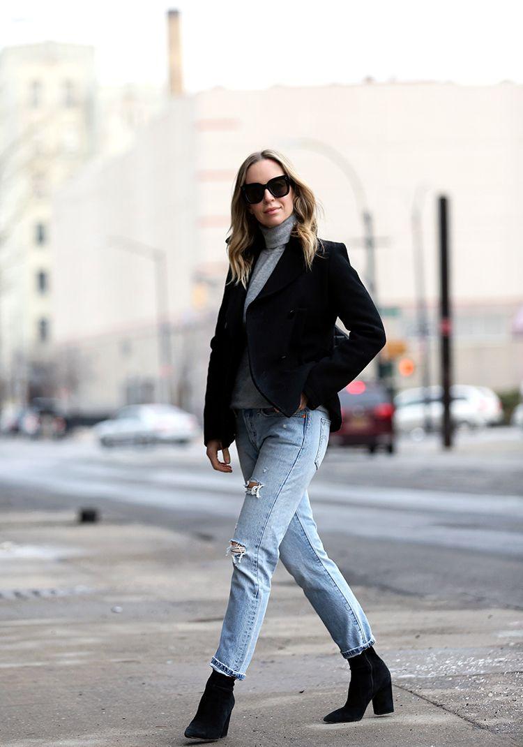 Winter Outfit Ideas, Boyfriend Jeans, Helena of Brooklyn Blonde