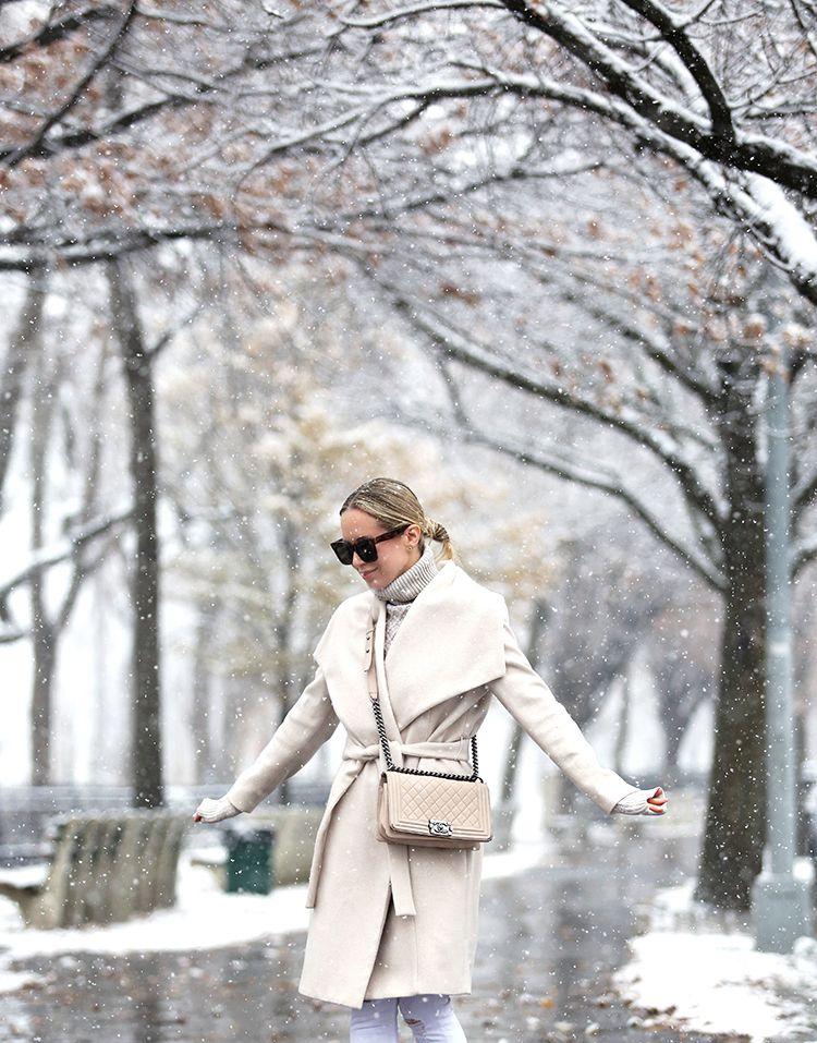 Wrap Coat, Chanel Boy Bag, Winter Style Inspiration, Helena of Brooklyn Blonde