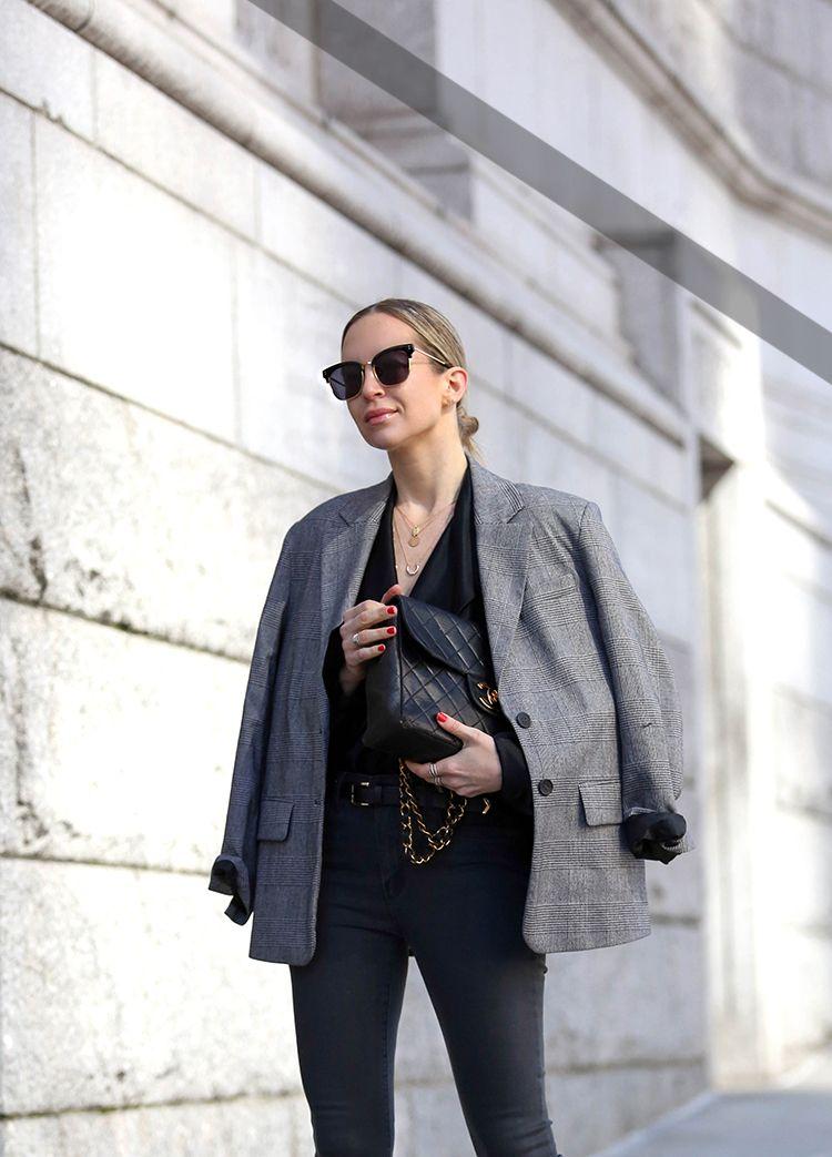 Colors In Optics, Tweed Blazer, Monochromatic, Helena of Brooklyn Blonde