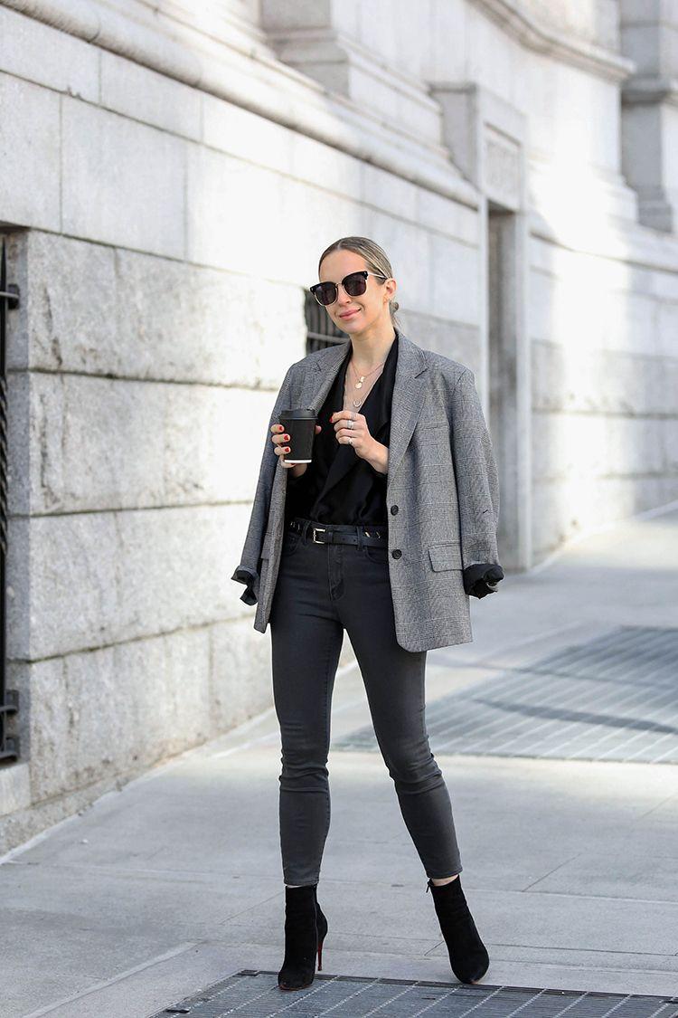 Colors In Optics, Tweed Blazer, Spring Outfit, Helena of Brooklyn Blonde