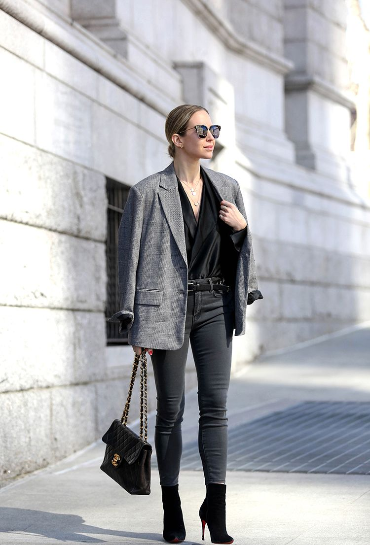 Colors In Optics, Tweed Blazer, Monochromatic, Spring Outfit, Helena of Brooklyn Blonde