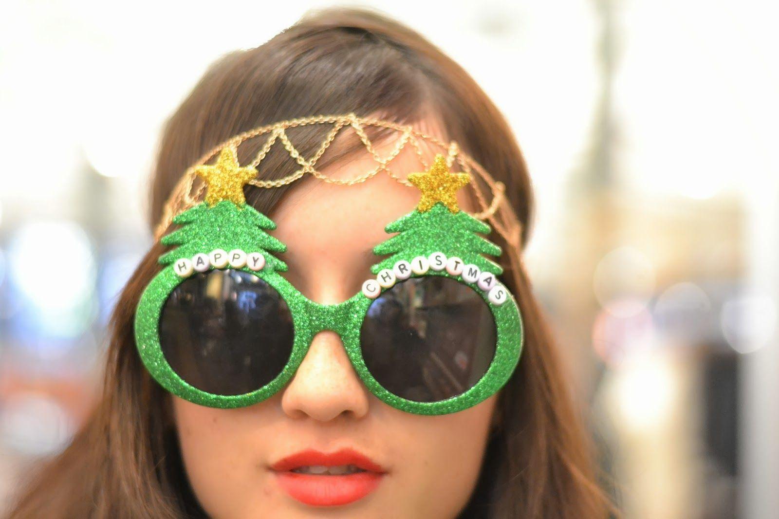 Happy christmas sunglasses