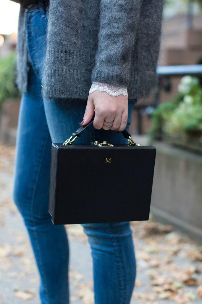 Monogrammed Box Bag