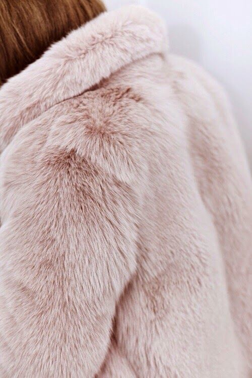 Pastel fur coat