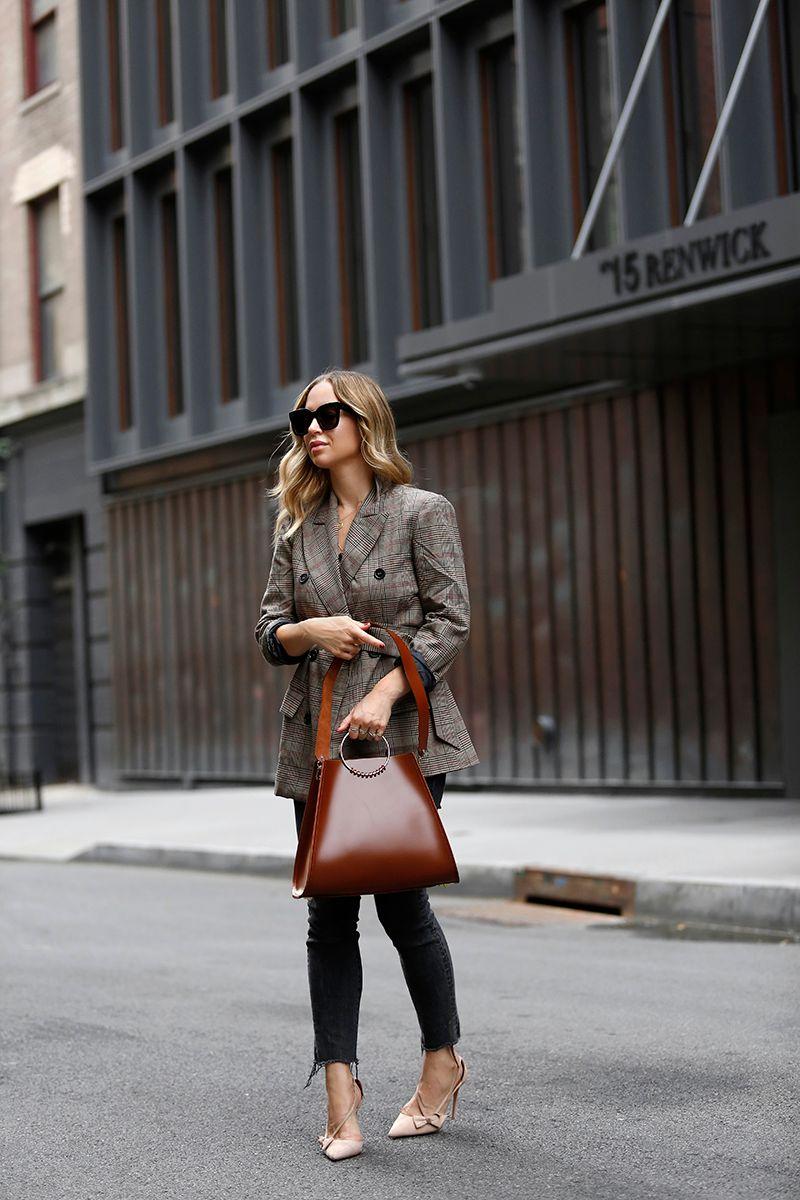 Work Wear, Belted Blazer, Fall Outfit, Helena of Brooklyn Blonde