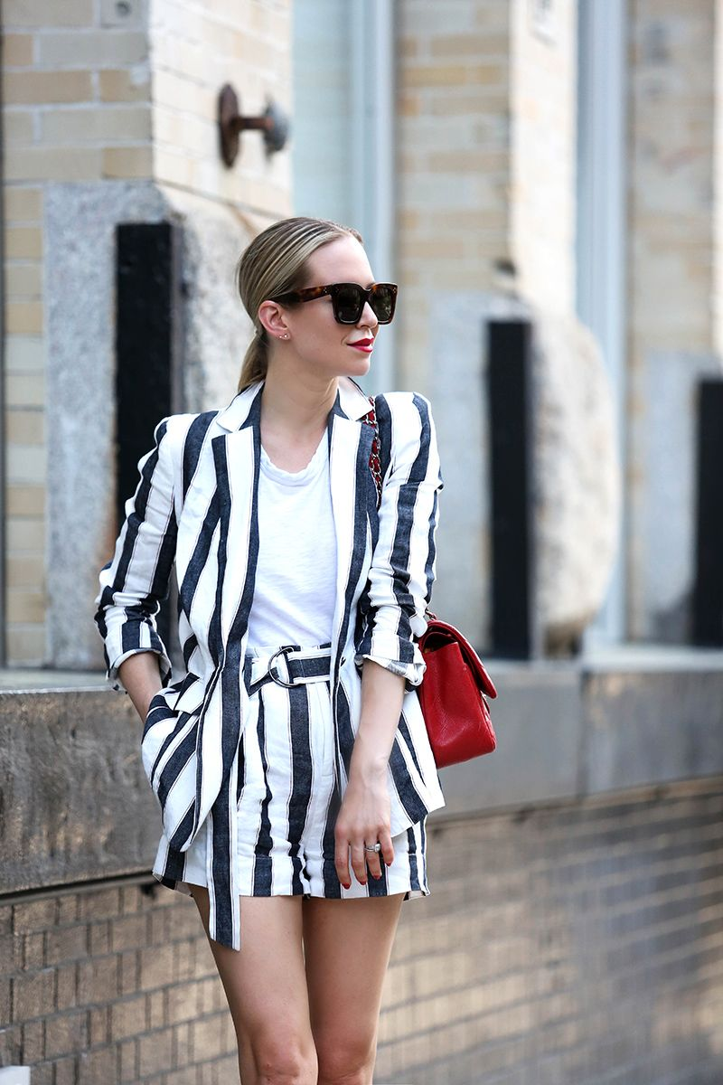Linen Short Suit by Frame - Helena Glazer of Brooklyn Blonde