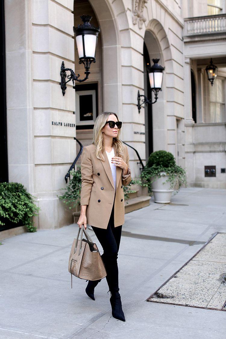 Camel Theory Blazer, Helena of Brooklyn Blonde