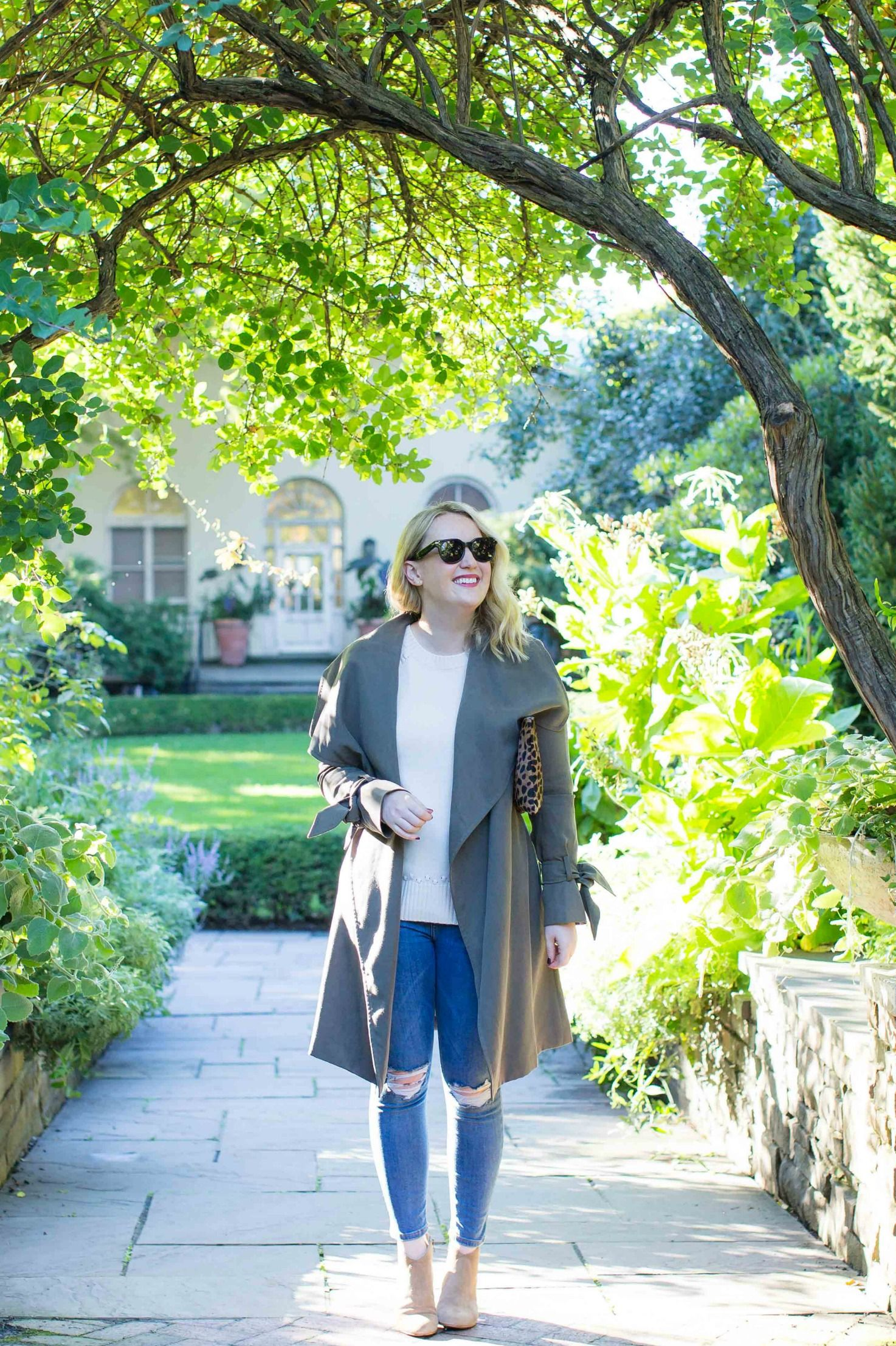 Meghan Donovan of wit & whimsy wears a classic Fall outfit