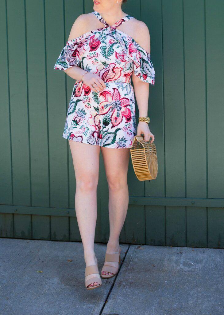 Floral Romper I on Meghan Donovan of wit & whimsy