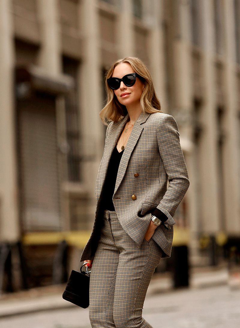 A.L.C. Sedgwick Jacket, Check Blazer, Suit Set, Helena of Brooklyn Blonde