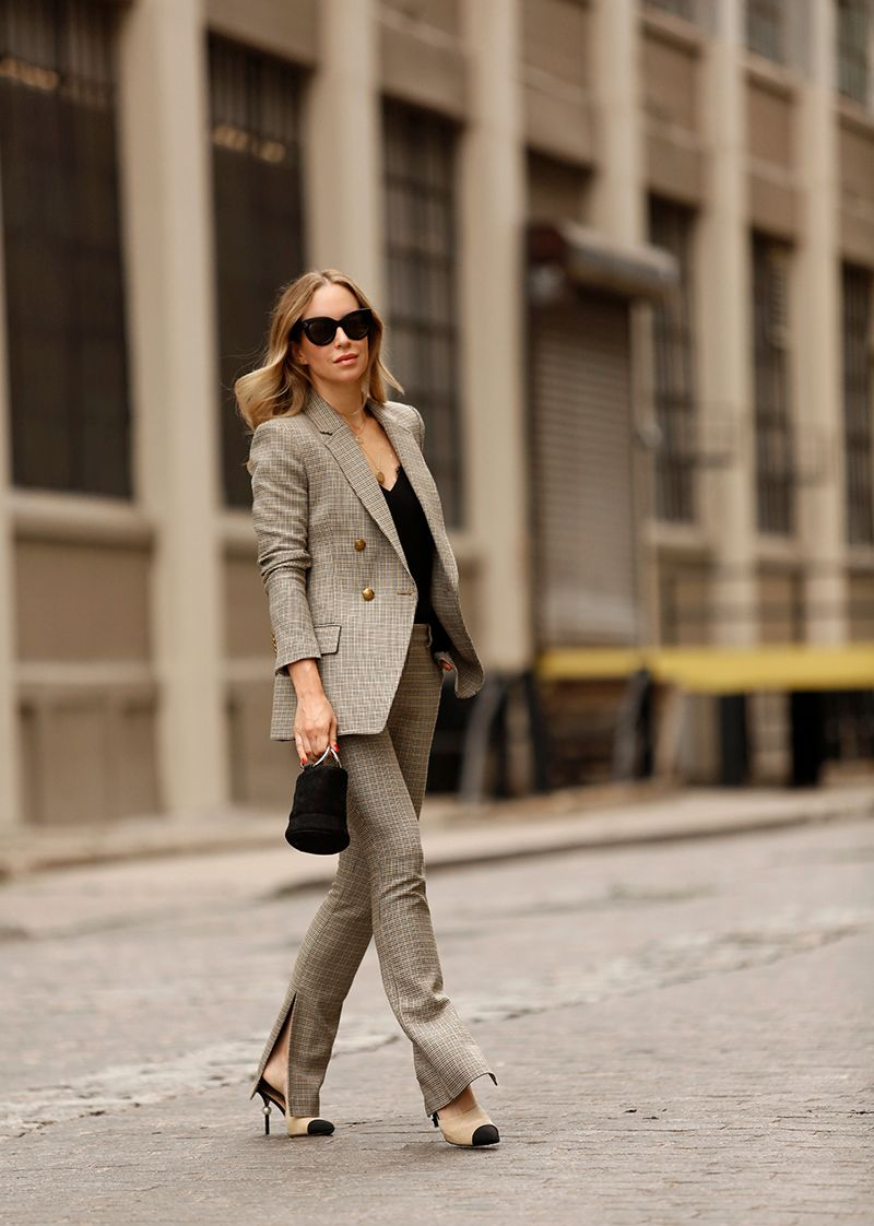 A.L.C. Sedgwick Jacket and Javier Pants, Checked Suit Set, Helena of Brooklyn Blonde