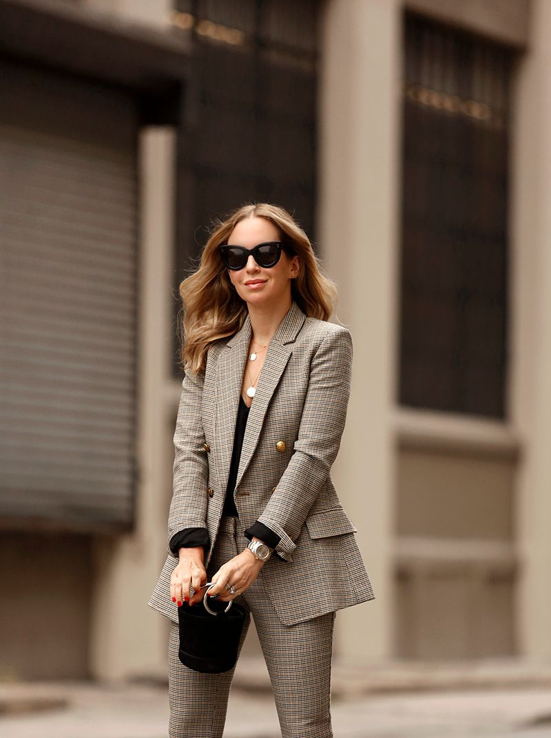 A.L.C. Sedgwick Jacket, Checked Suit Set, Helena of Brooklyn Blonde