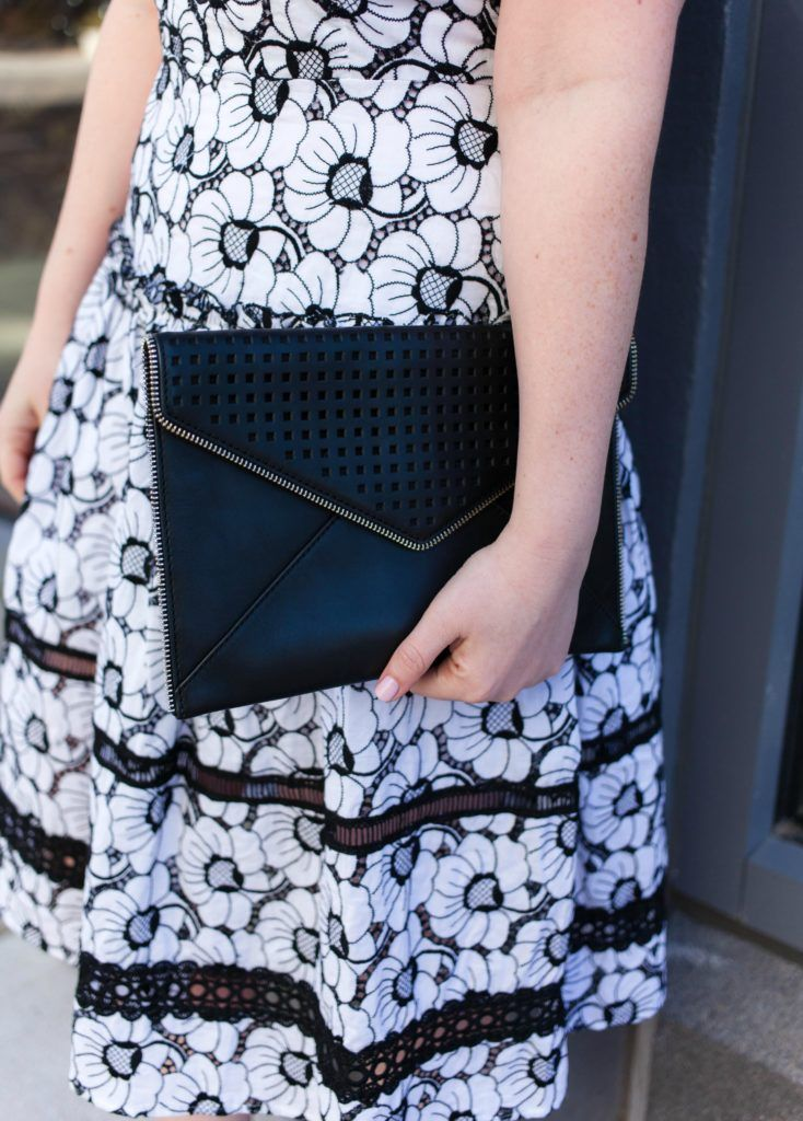 Rebecca Minkoff Envelope Clutch on Meghan Donovan of wit & whimsy