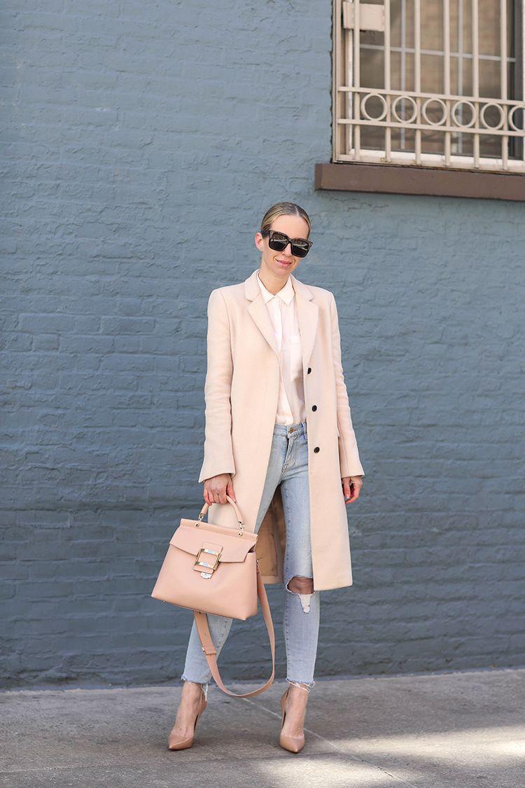 Spring Style, Roger Vivier Handbag, Christian Louboutin Shoes, Blush Pink
