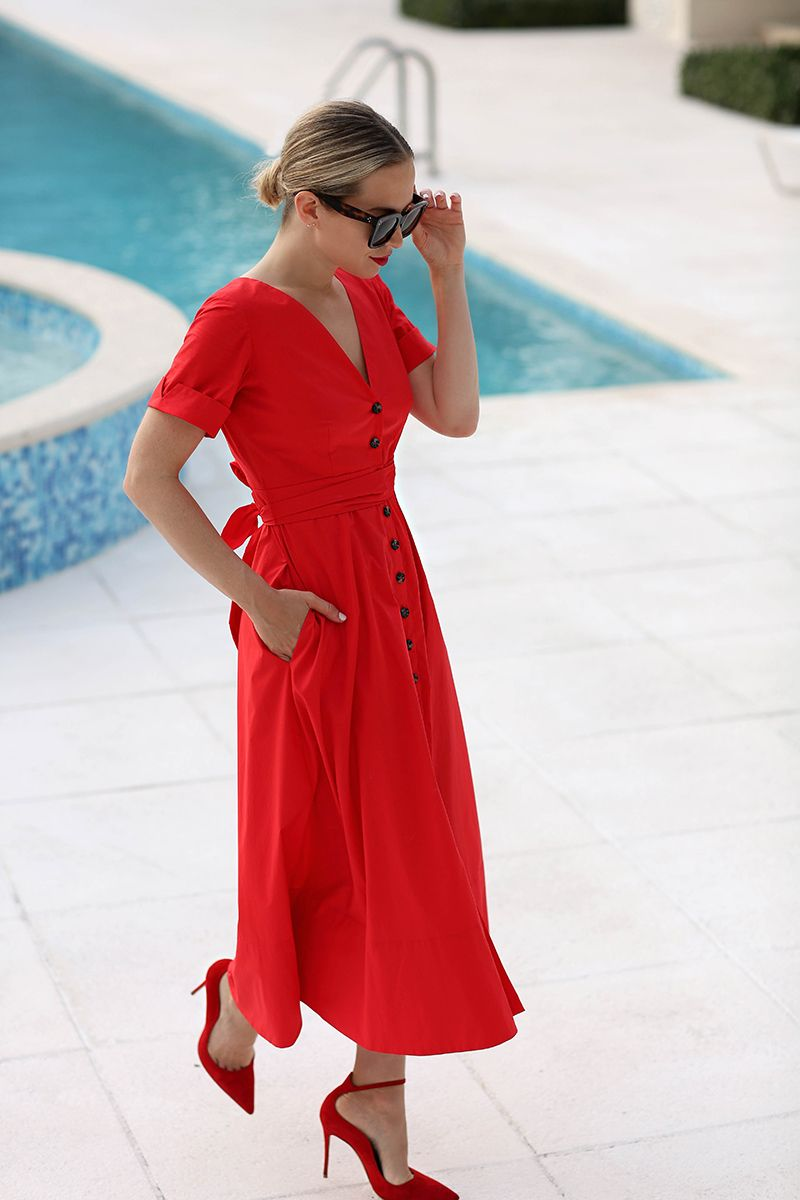 Red Saloni Dress in Turks & Caicos