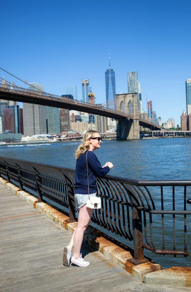 Meghan Donovan of wit & whimsy wears J.Crew New York Sweatshirt