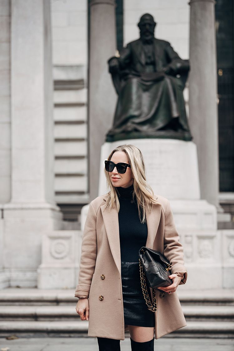 Theory Coat, Spring Outfit, Helena of Brooklyn Blonde