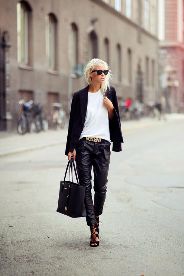 Baggy Leather trousers