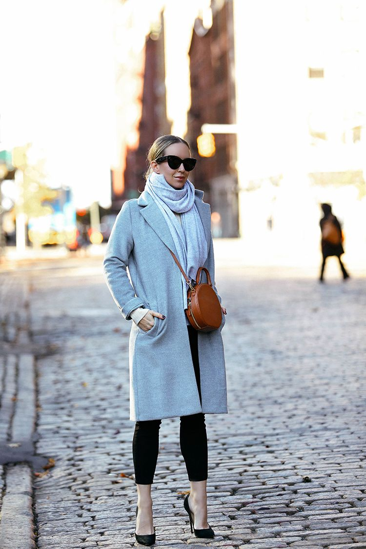 Fall Winter Outfit Inspiration, H&M Grey Coat, Helena of Brooklyn Blonde