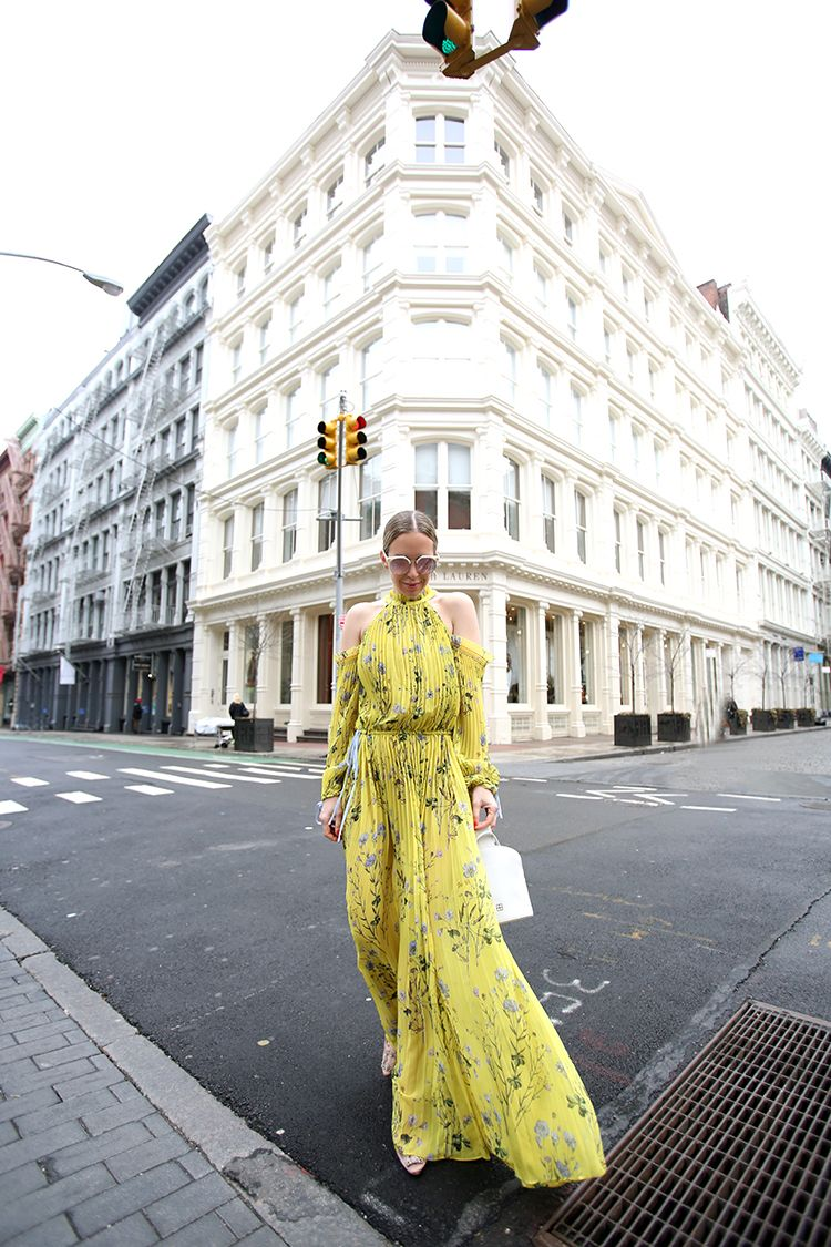 Self Portrait dress, Street Style, Spring Outfit, Mytheresa.com, Helena of Brooklyn Blonde