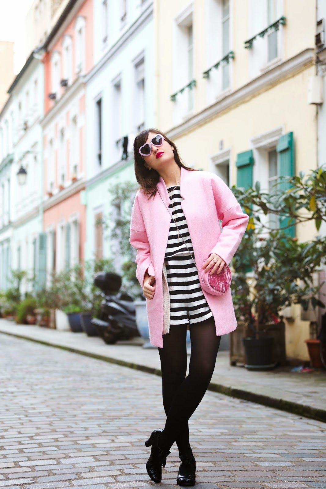 Stripey and pink look
