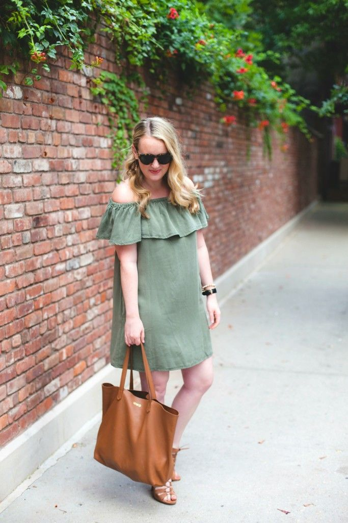 cuyana tote I topshop dress I wit & whimsy
